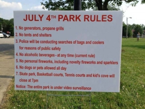 4th of july rules