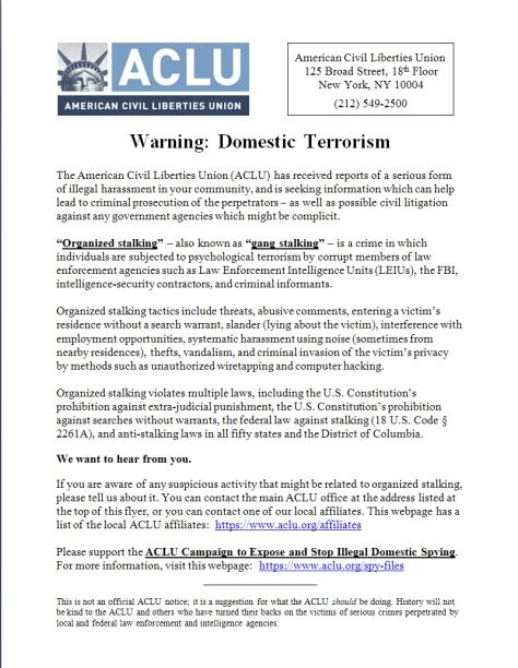 ACLU Flyer Image