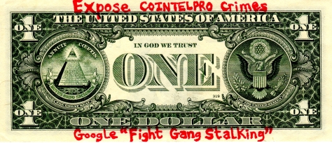 dollar with message