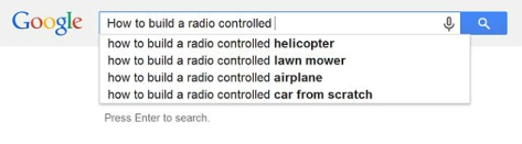 Google Auto-Completion