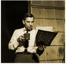 Jack-Webb-Reading-script-on-set