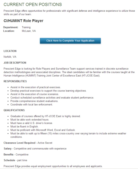 job ad for gang stalker cropped
