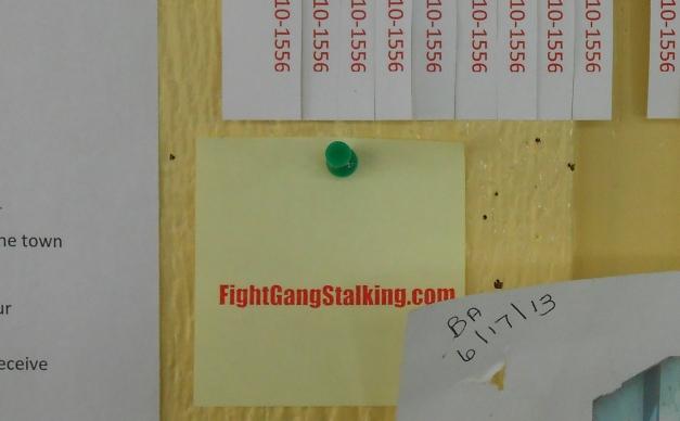 Stamp On Bulletin Board