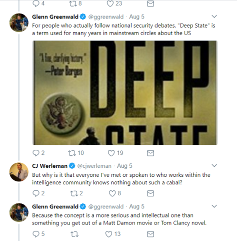 Greenwald replies to deep state skeptic